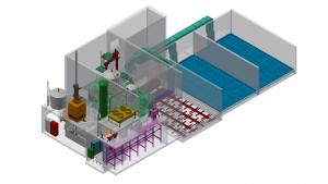 Holzgas-KWK Anlagen: Schema einer Holzgas-KWK Anlage